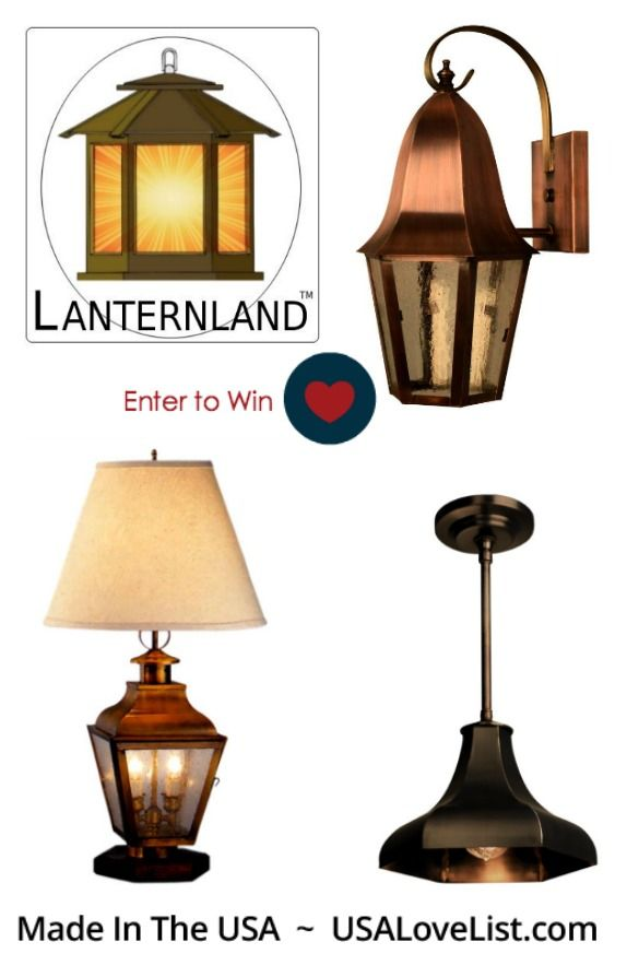 Giveaway american made lighting by lanternland pinterest american made indoor outdoor lighting by lanternland made in the usa aloadofball Choice Image