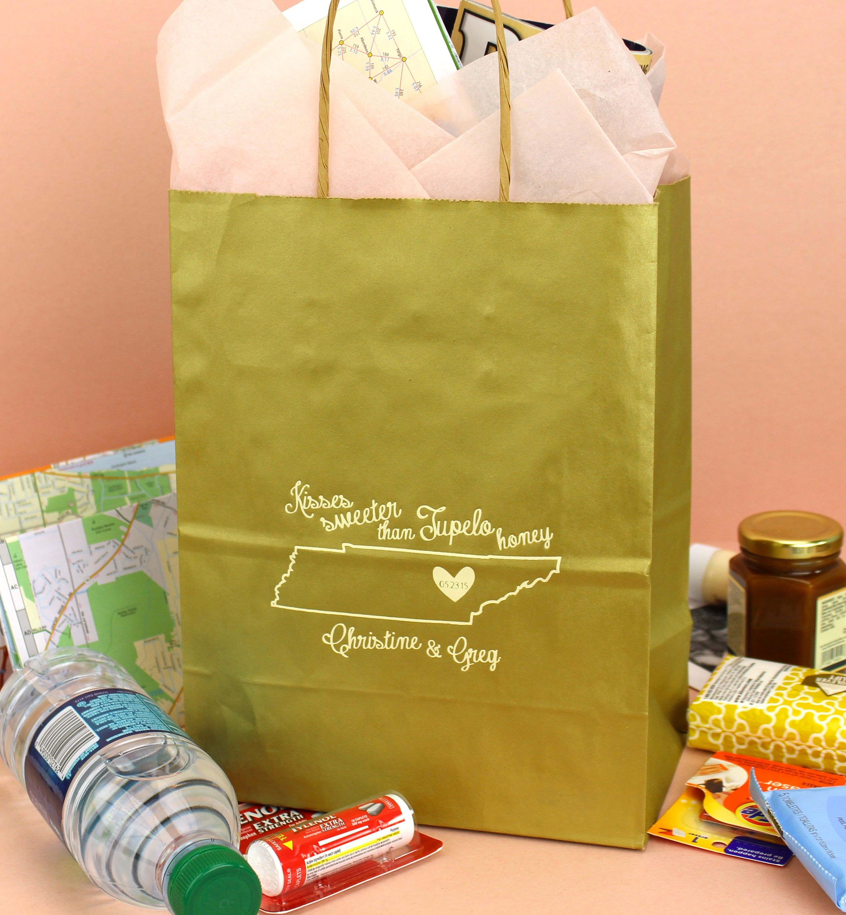 ... Bags on Pinterest Wedding Welcome Bags, Welcome Baskets and Wedding