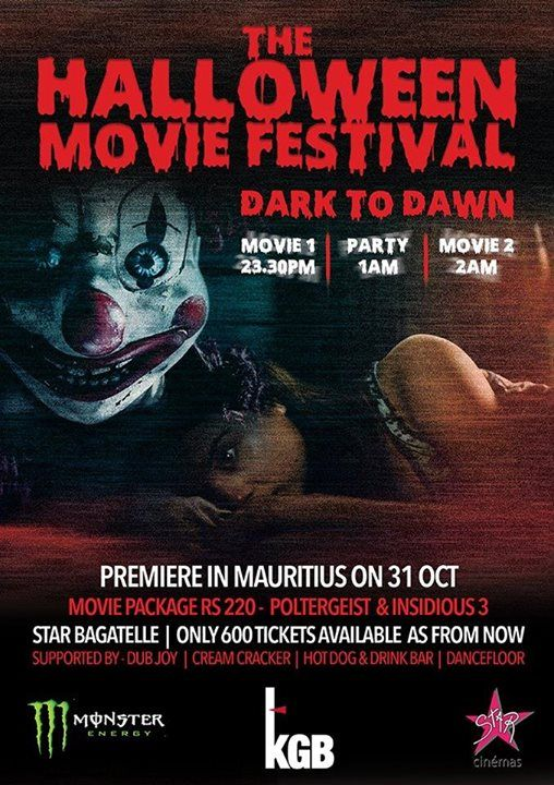 Pin by Kirole mu on Events in Mauritius! | Halloween movies