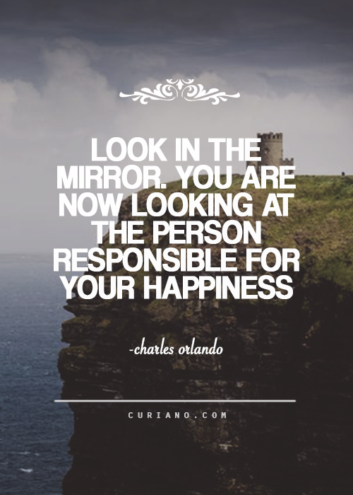 Look In The Mirror You Are Now Looking At The Person Responsible