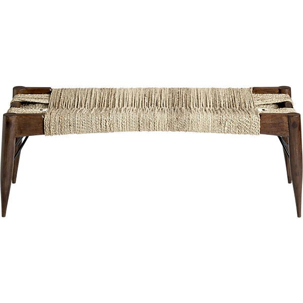 Wrap Large Woven Bench Reviews Bench Furniture