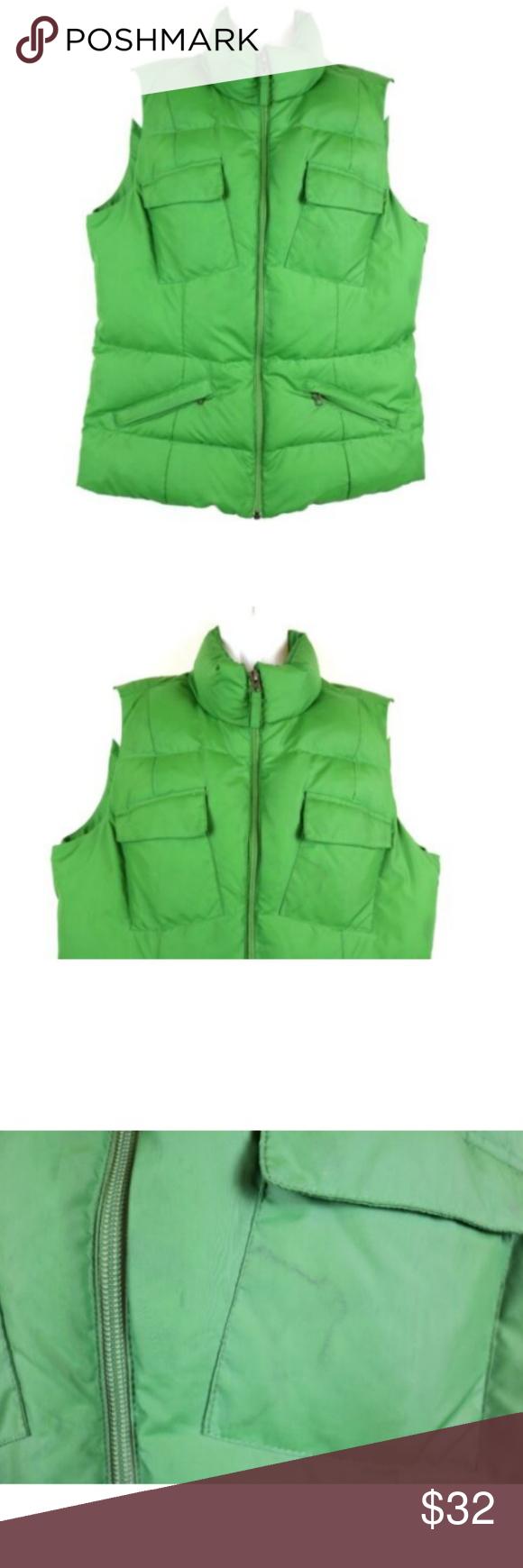 Tommy Hilfiger Womens Vest Down Puffer Green Clothes Design Fashion Fashion Design