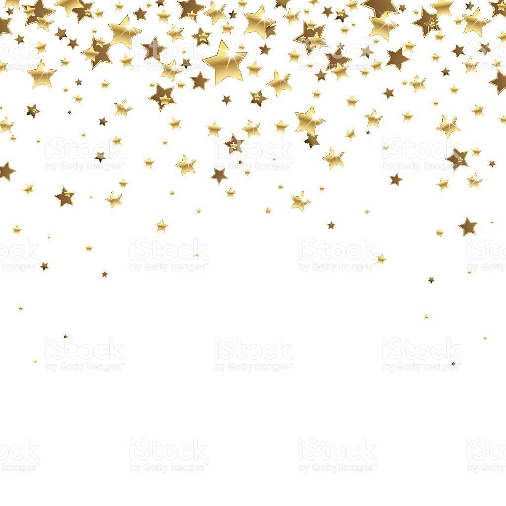 Golden Falling Stars On A White Background Star Illustration Star Background Decorative Lines