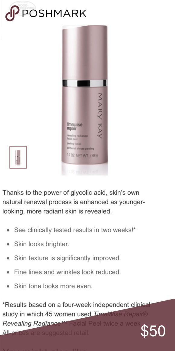Mary kay Facial Peel Brand new Works instantly See description of item in photo Mary Kay Makeup