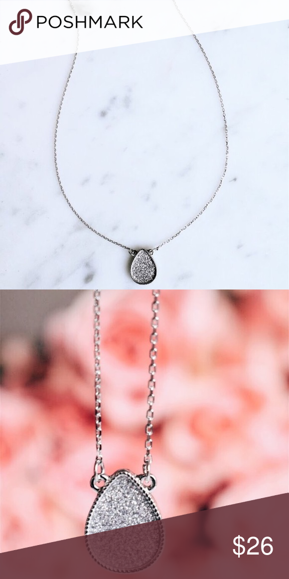 Shine On Necklace Keep It Sweet And Dainty With This Stylish Shine On Necklace Featuring A Teardrop Shaped Char Womens Jewelry Necklace Teardrop Shape Jewelry