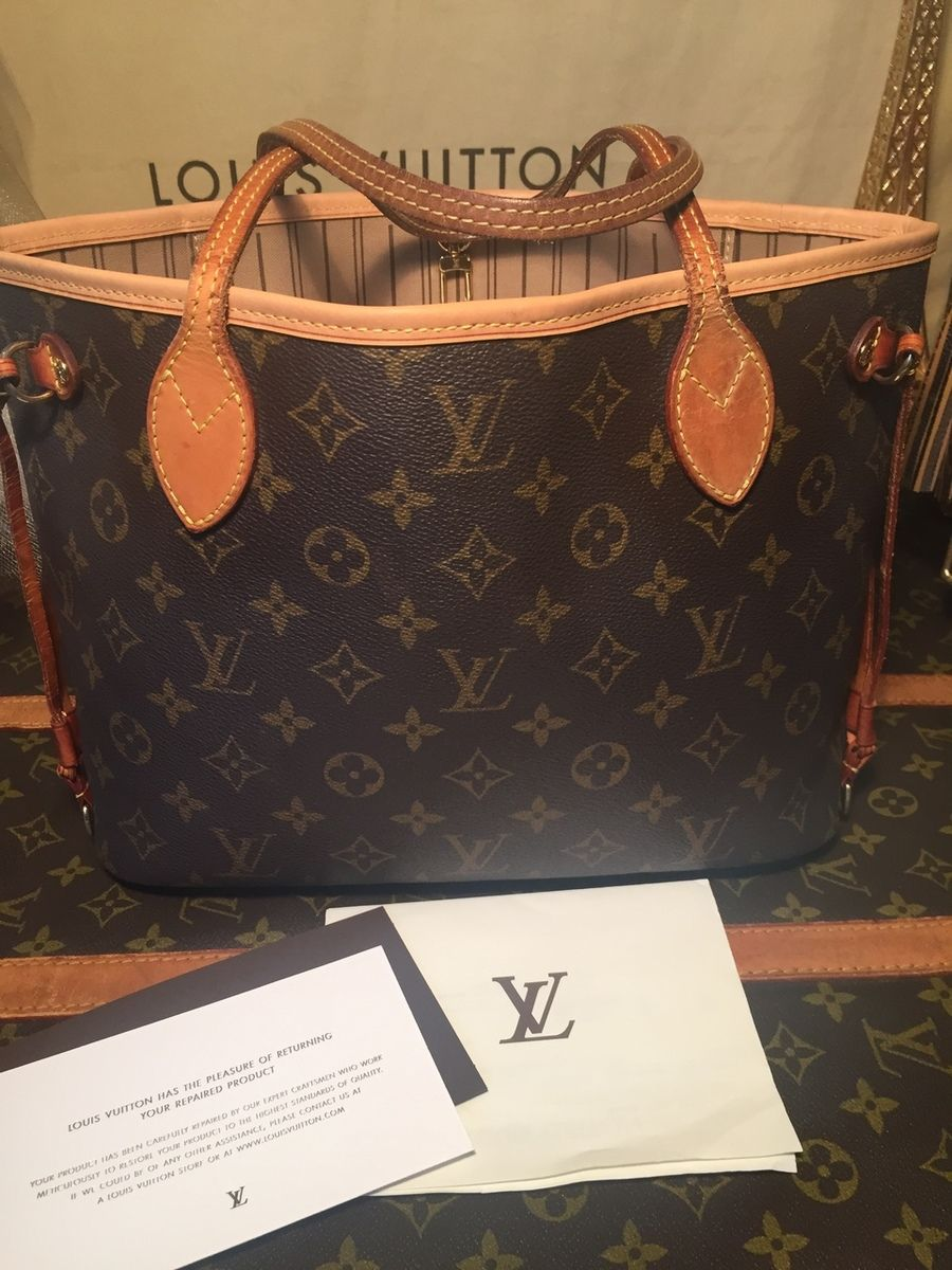 b714bdd4a Pre-owned Authentic Louis Vuitton Monogram Neverfull PM TH1018 - The Luxe  Boutiqueus