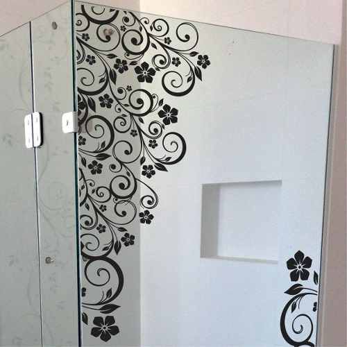 Adesivo Box Banheiro Floral Parede Blindex R 89 70 Box