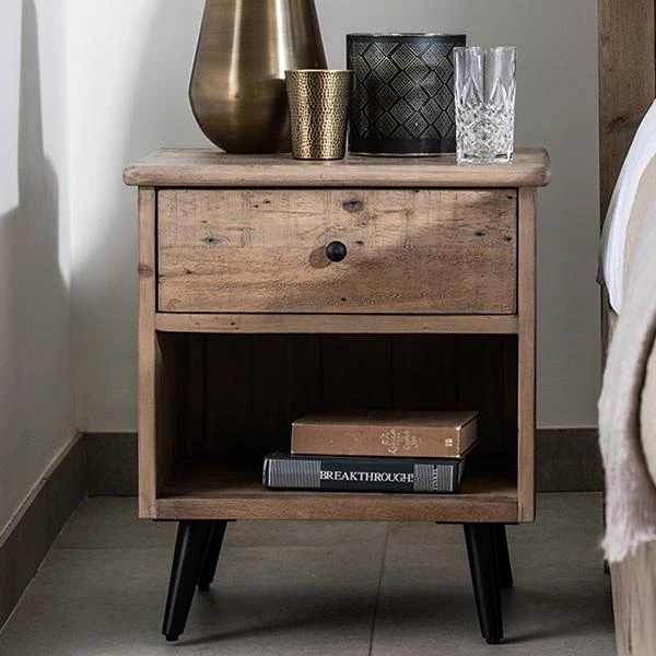 Chelwood Reclaimed Wood Bedside Table