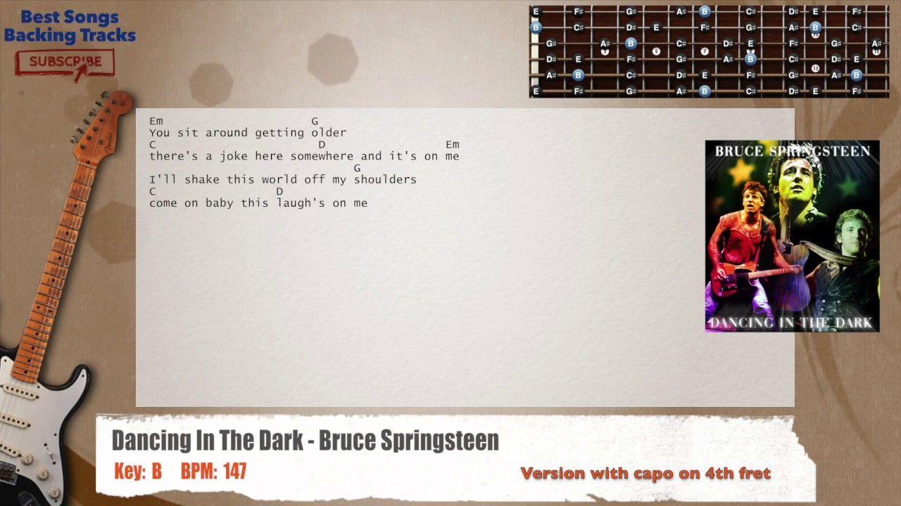Dancing In The Dark Bruce Springsteen Guitar Backing