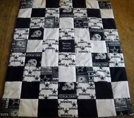 Handmade Dallas Cowboys Cribsize Quilt By