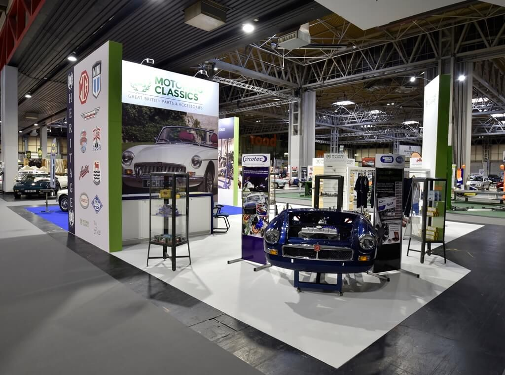 Classic Exhibition Stand Builders : Classic motor show exhibition stand british heritage
