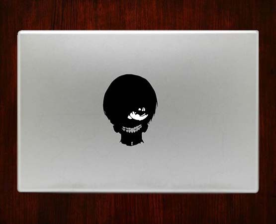 Tokyo ghoul high resolution ken kaneki decal sticker vinyl for macbook pro air 13