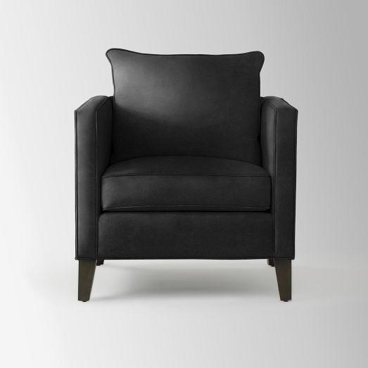 Dunham Down Filled Armchair   Toss Back (Solids) | West Elm
