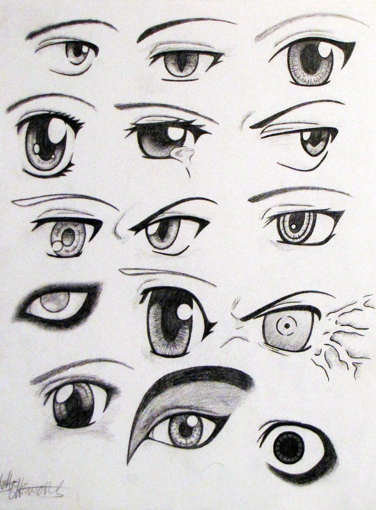 Anime Eyes by Ella Williams on Deviant Artpage suggested