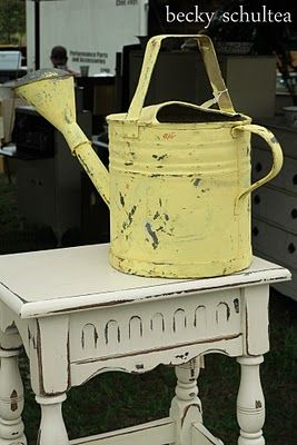 create shabby garden accessories with chalk paint and milk paint
