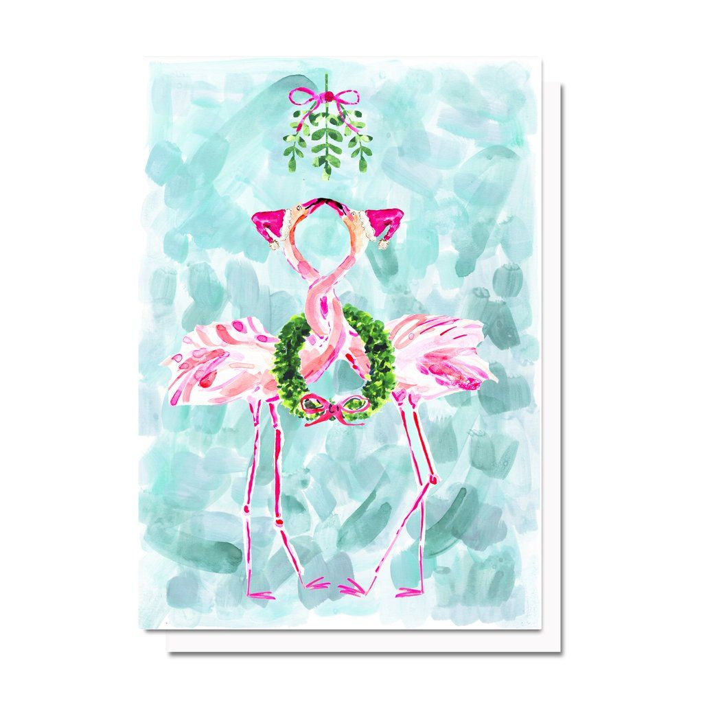 Holiday flamingos card paper presentation pinterest paper
