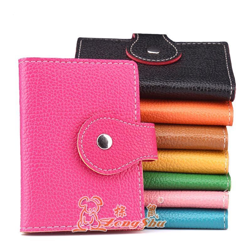 $4.50 (Buy here: http://appdeal.ru/7gt6 ) ZS New candy color card package double buckle cover bags business card holder creative bank card sets for just $4.50