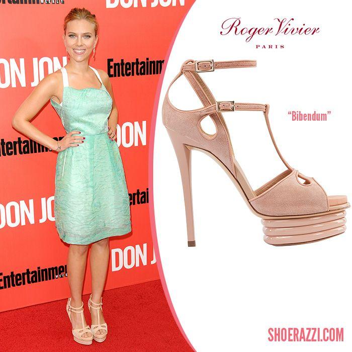 ea397fc7391c Roger Vivier Bibendum Pale Pink Platform Heels Sandals on Scarlett Johansson