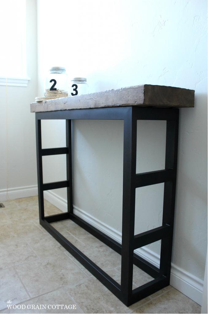 DIY Laundry Room Side Table- Pottery Barn Style | Mesas para bar ...