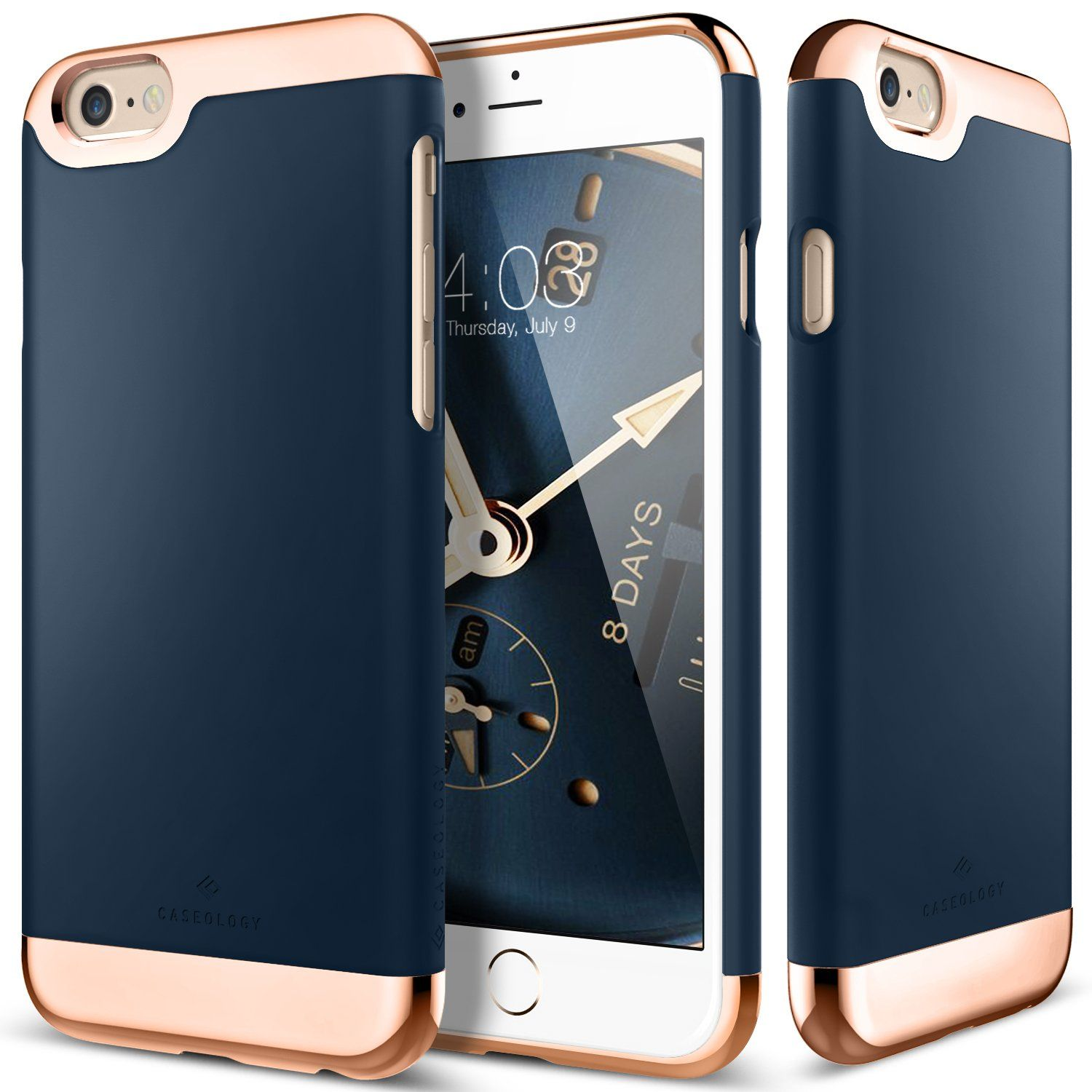 coque iphone 6 gold and navy
