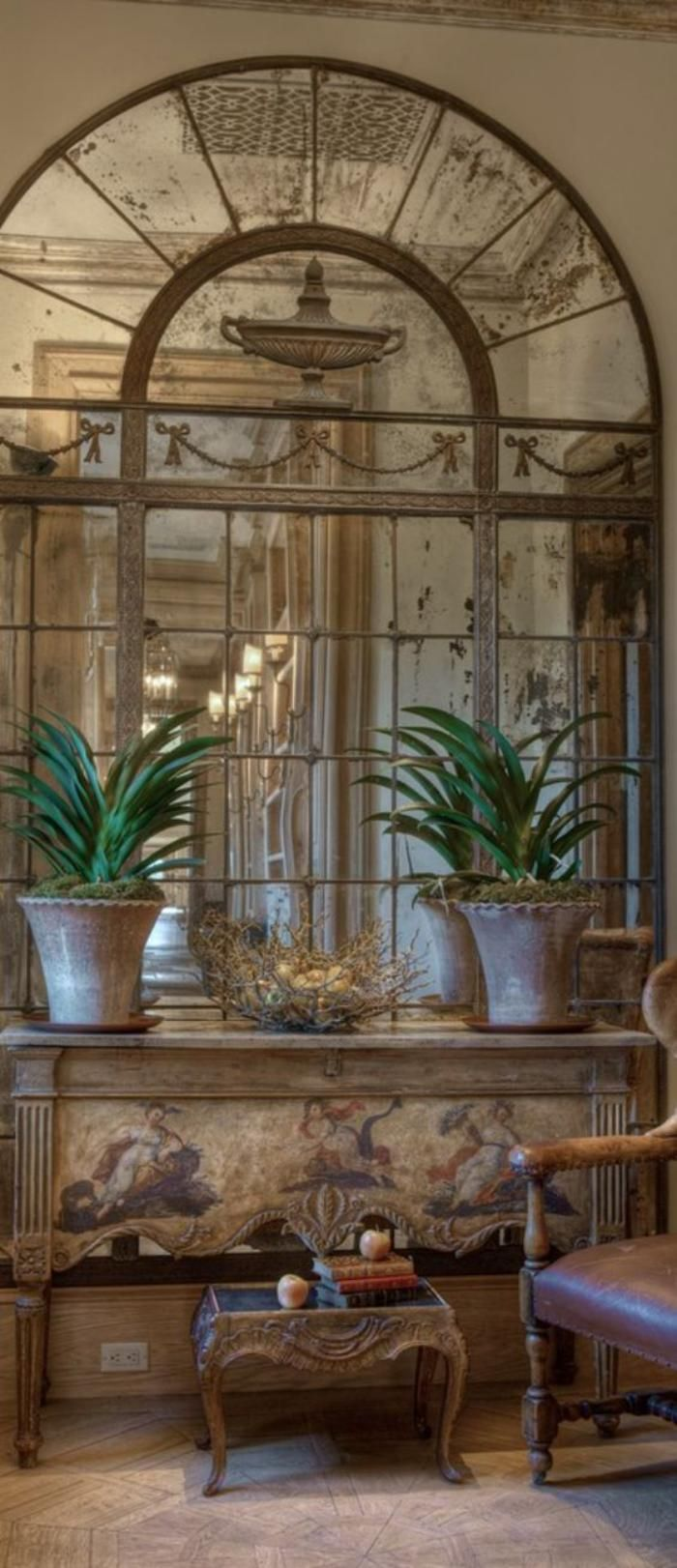 chic shabby and french mirror