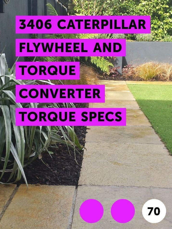 3406 Caterpillar Flywheel and Torque Converter Torque