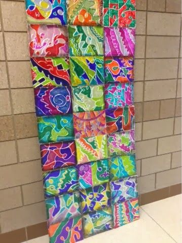 Art at Becker Middle School: Tin Foil Line Relief | Kid art lessons