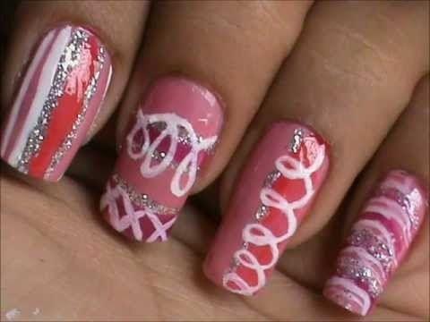 Magic Nails Pink Glitter Easy Nail Art For Short Nails Nail