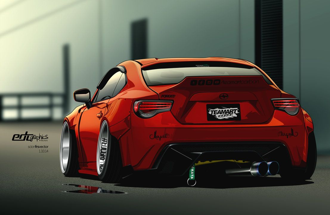 Scion frs vector by edcgraphic