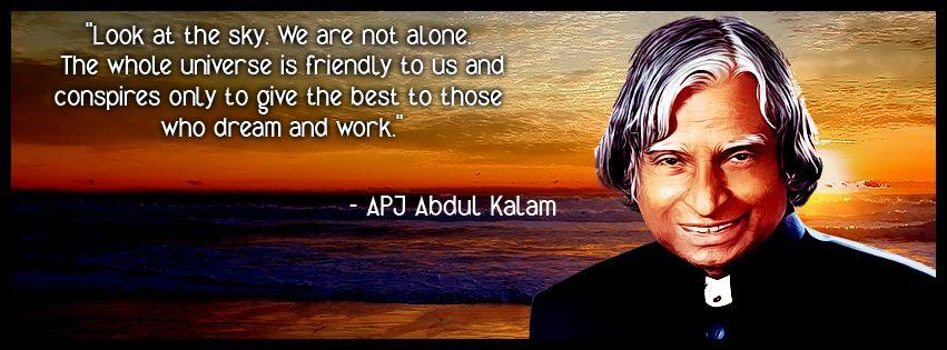 Kalam sir Quotes Look at the sky, Abdul kalam, Job images