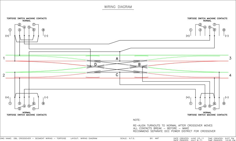 View Topic Wiring A Double Crossover Using Tortoise Switch Machines Norval Ho Trains Wire