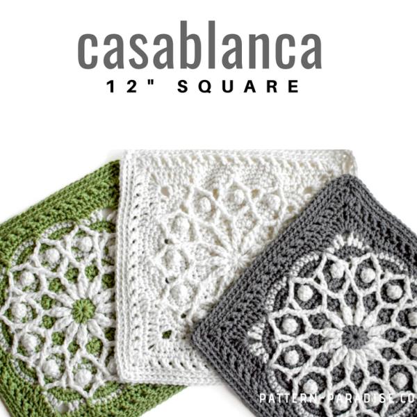 Patrón de ganchillo gratuito: Plaza de ganchillo de Casablanca ...