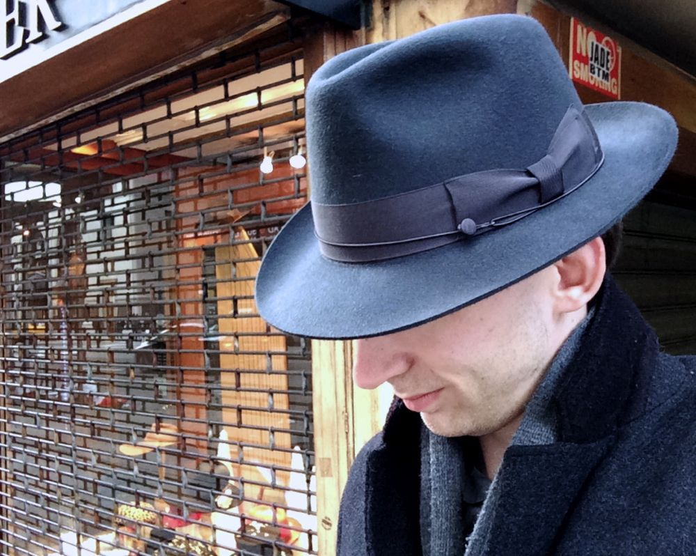 Your host in his new prize from JJ Hat Center  e26cb1ae2863