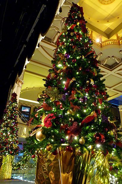 Hippodrome Casino Artificial Christmas Tree Red, Gold and Purple