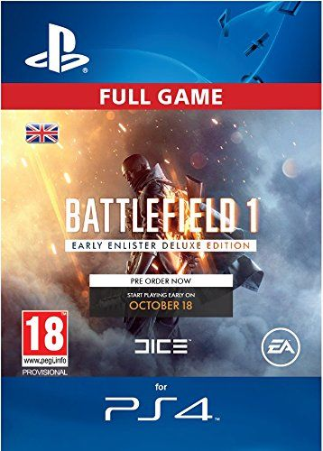Battlefield 1 Early Enlister Edition Ps4 Psn Code Uk Account