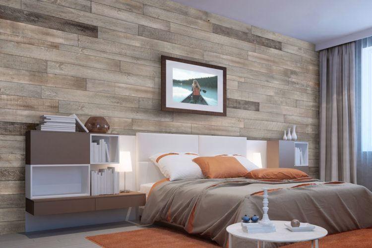 20 Schlafzimmer-Designs mit Holzwänden #designs # ...
