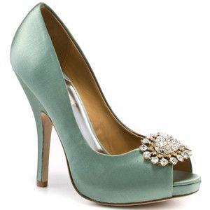 I may need to find the perfect dress to go with these aqua pumps