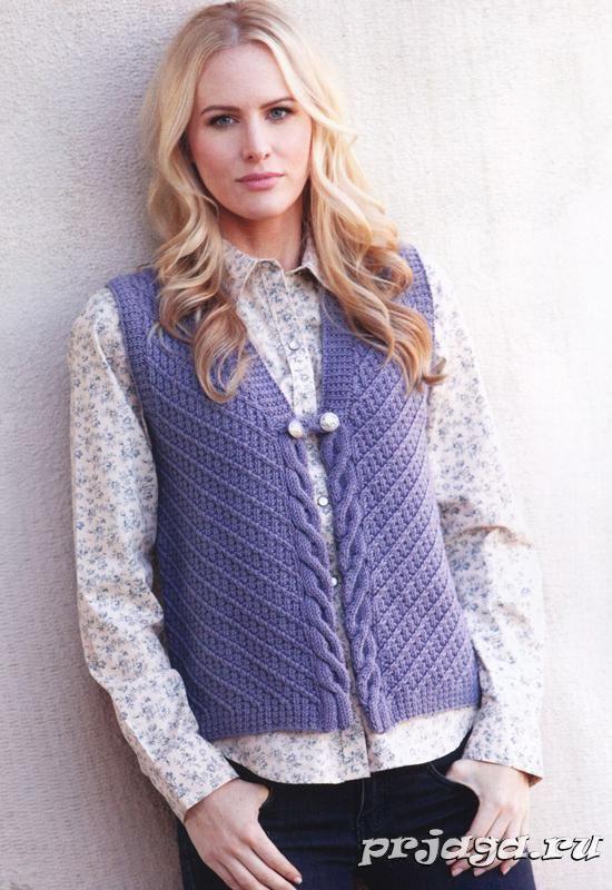 Вязание спицами жилетки женские | Knitting | Knit vest ...