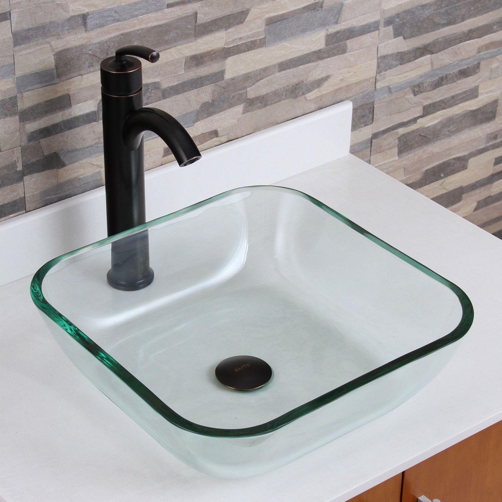 Glass Above Counter Bathroom Sinks Stribal Design Interior