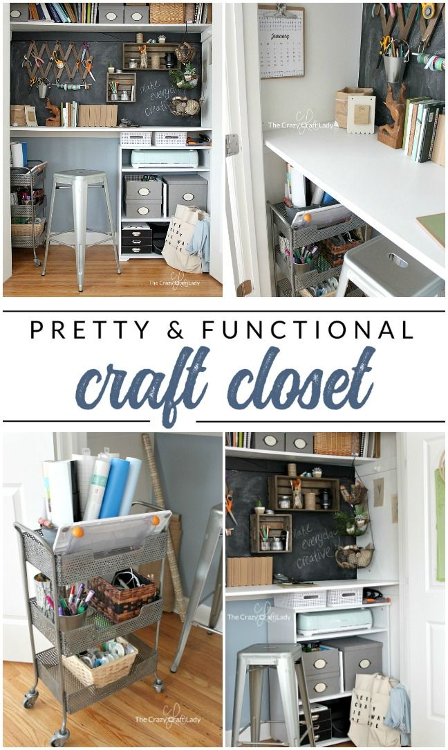 Designing a Closet Desk and Functional Home Work Space -   22 diy closet office