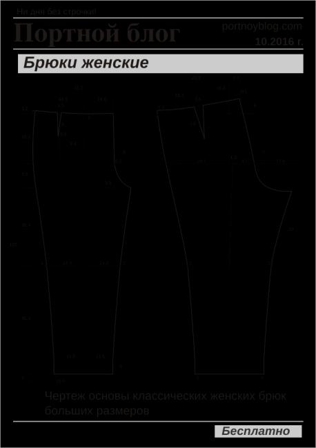 Выкройка женских брюк скачать платяные ткани купить