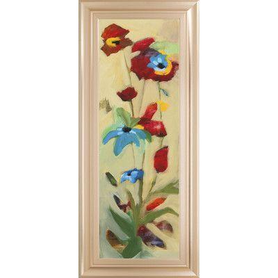 ClassyArtWholesalers Wildflower II by Jennifer Zybala Framed Painting Print