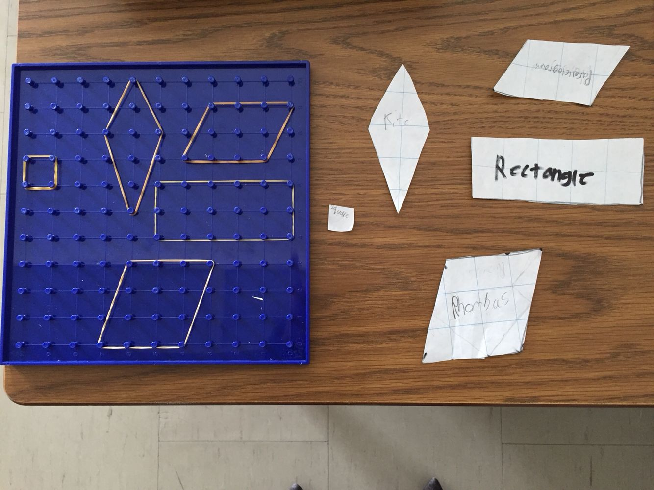 Geoboards Students Use Elastics To Make 2 D Figures Here