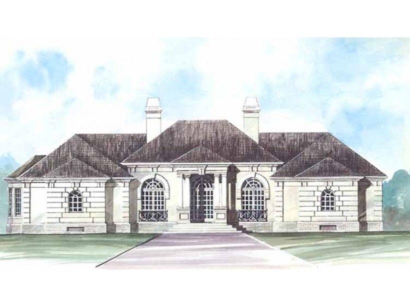 Eplans House Plan A Mediterranean mansion or an Italian villa