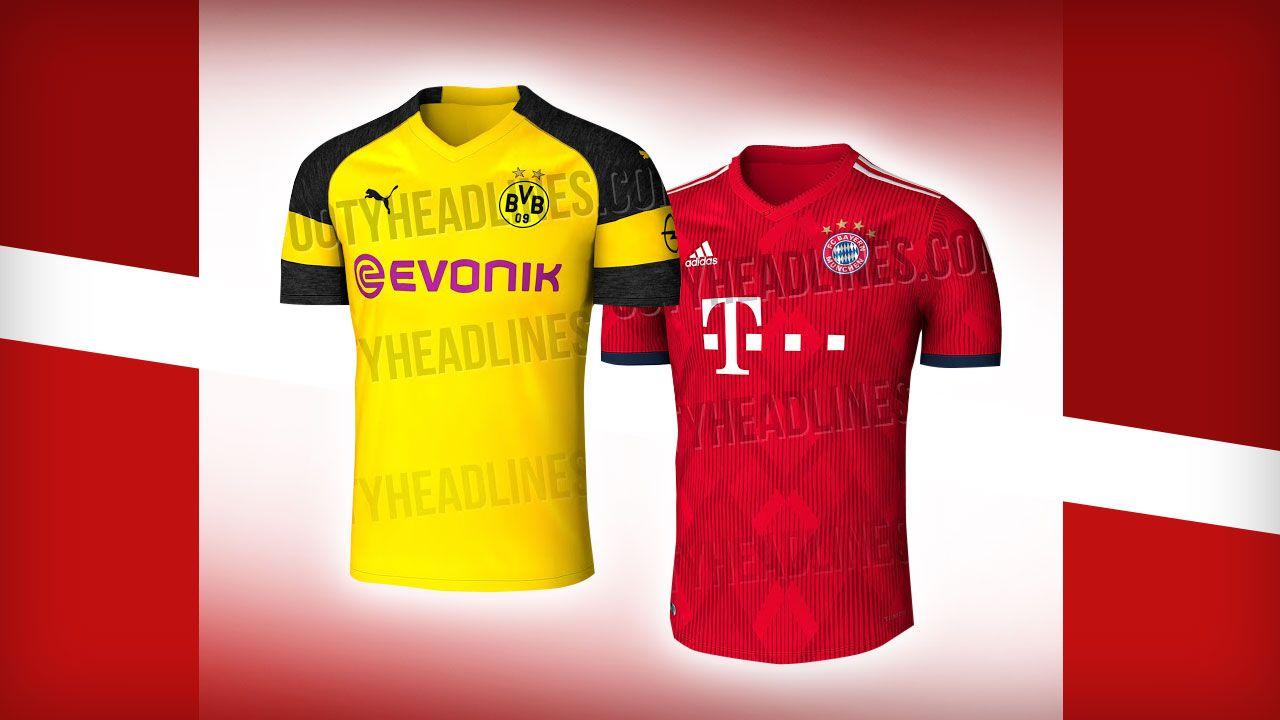Borussia Dortmund Und Bayern Munchen Sind Das Die Neuen Trikots Borussia Dortmund Bayern Trikot Trikots