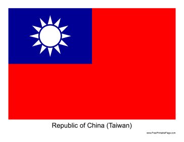 The Flag Of Republic Of China Taiwan Free To Download And Print Taiwan Flag Republic China