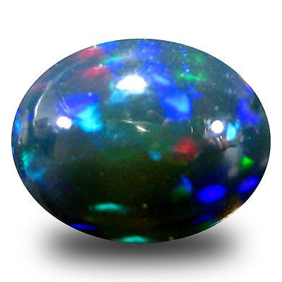 Black Opals 181110: 2.14 Ct Aaa Eye-Catching Oval Cabochon Shape (10 X 8 Mm) Black Opal Gemstone -> BUY IT NOW ONLY: $34.99 on eBay!