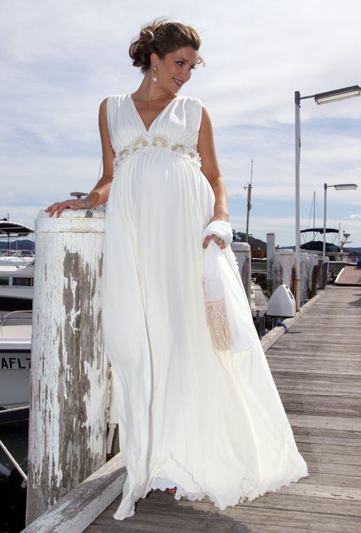 Aphrodite Maternity Wedding Dress in Vanilla by Lilly B Australia ...