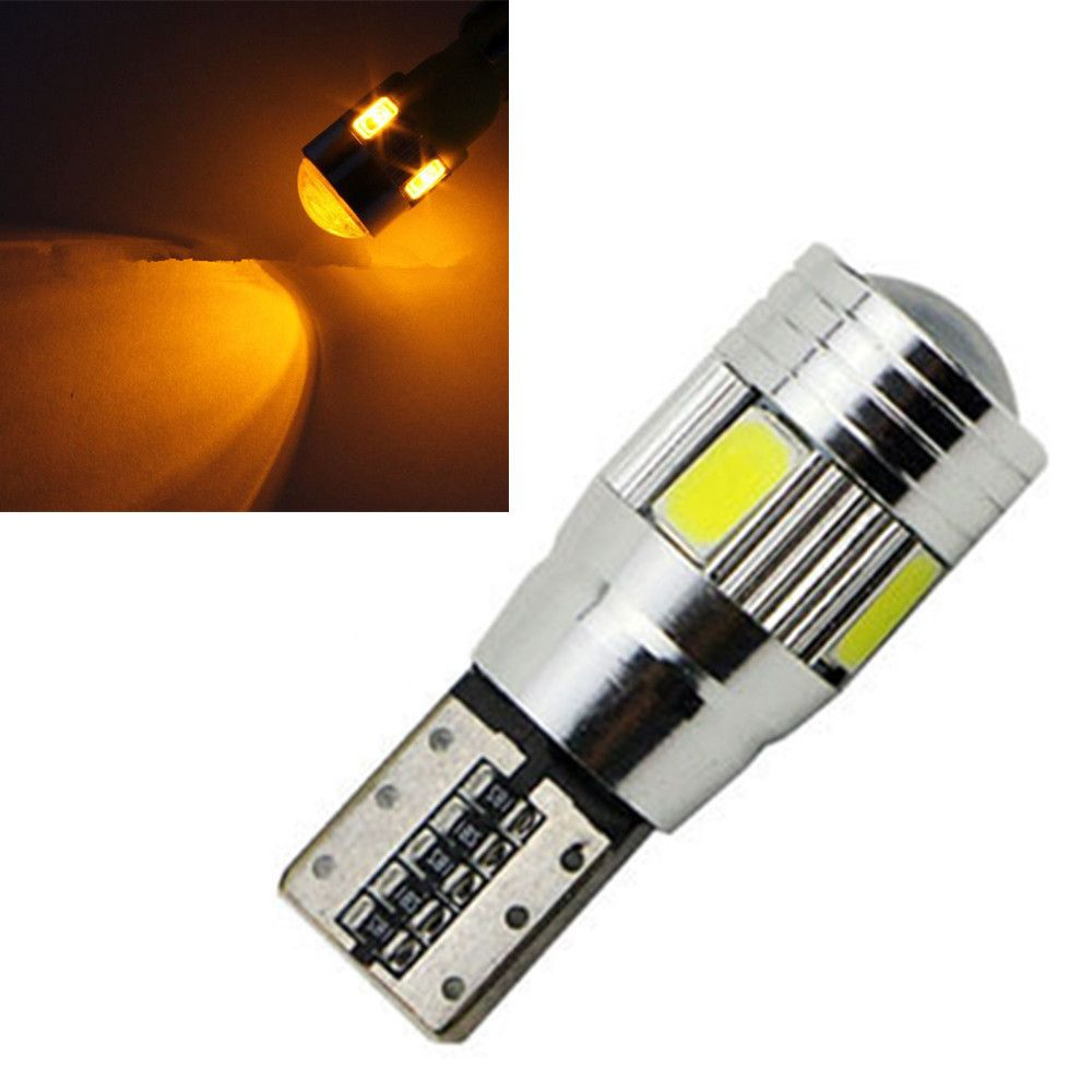 Amber Yellow 6 Smd Led 5630 Error Free 194 168 W5w Universal Parking Car T10 Canbus Auto Side Light Bulb Lamp Red Car Lights Light Bulb Lamp Side Lights