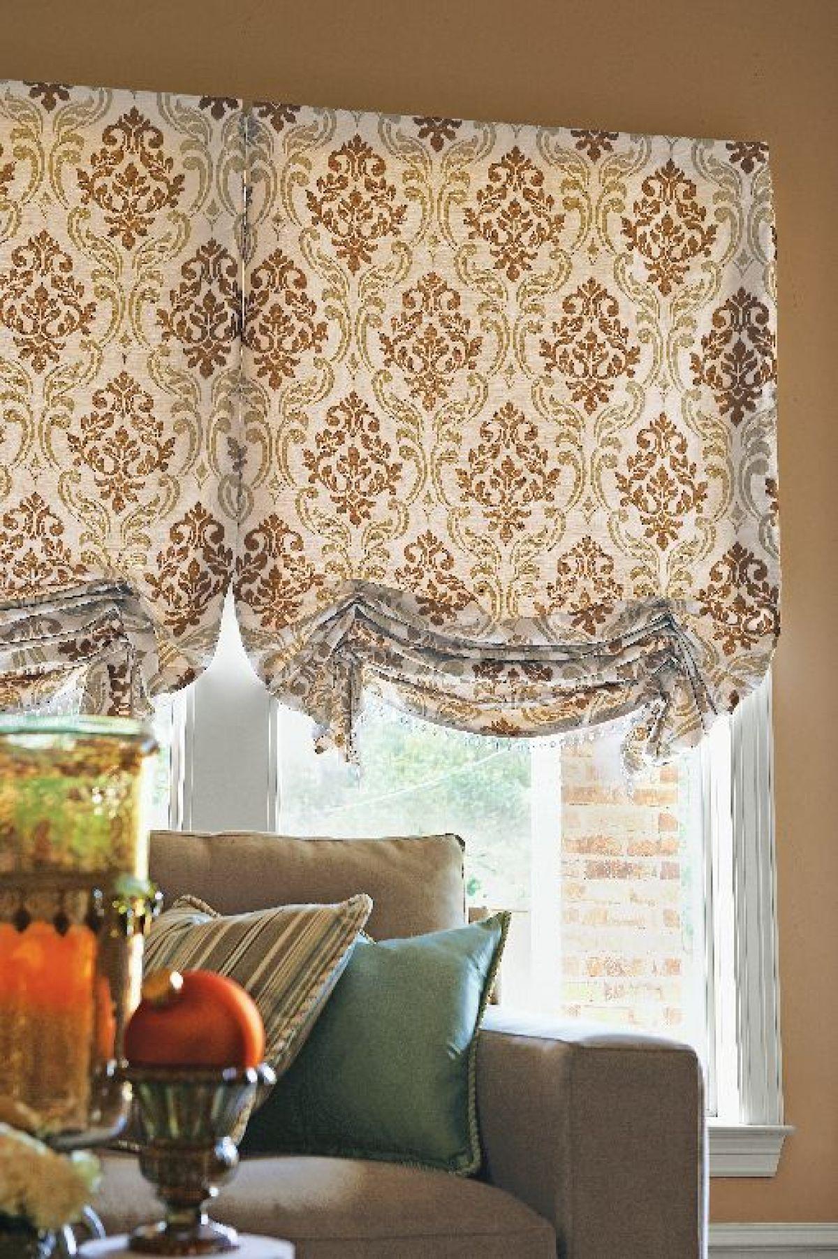 Kitchen nook window treatments  fabric shade  cortinas  pinterest  fabrics window and roman